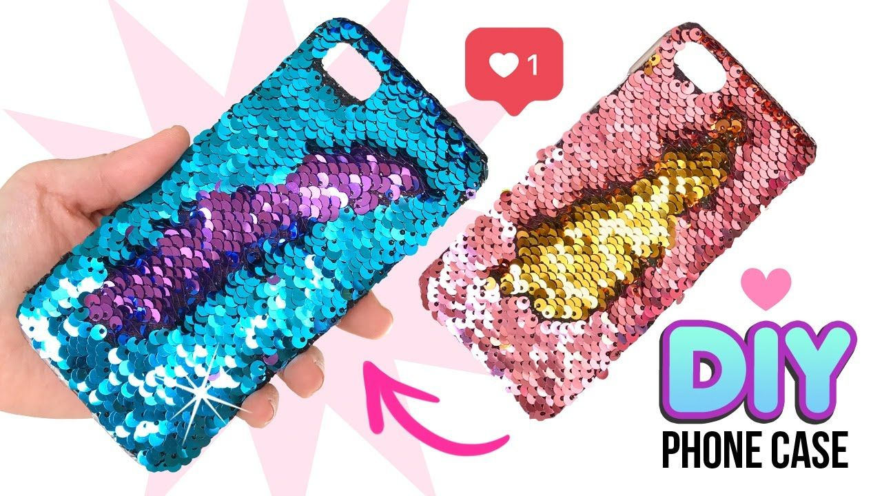 DIY Amazing VIRAL Color-Changing Phone Case!! DIY Mermaid Sequin Phone Case!  - YouTube   Diy phone case, Diy phone case design, Crafts to do when your  bored