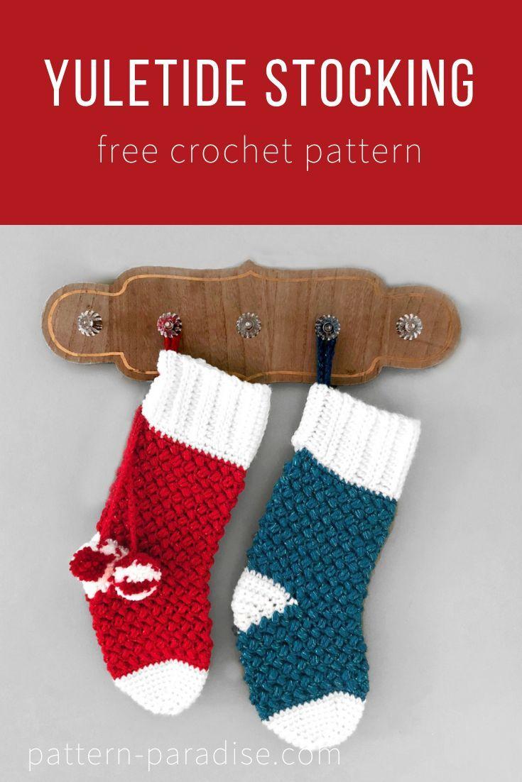 Free Crochet Stocking Pattern Simple Inspiration