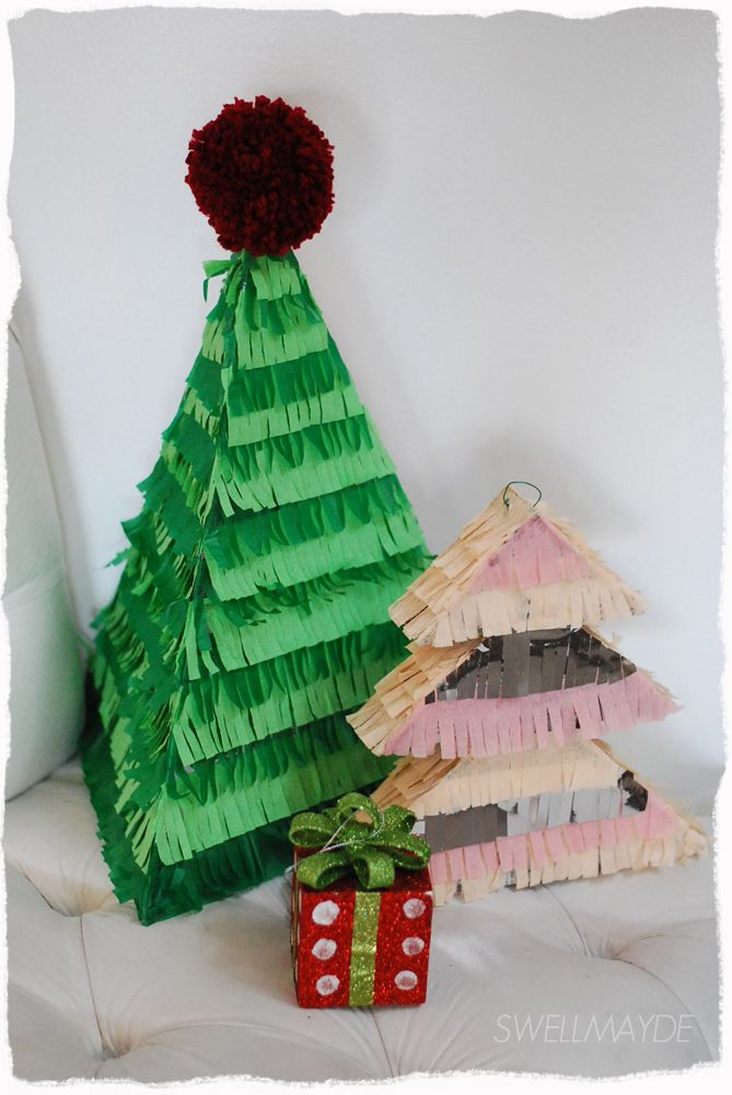 swellmayde diy Christmas tree pinatas swellmayde