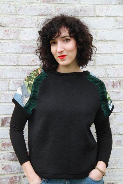 """Sweat-shirt """"le canevas de Martine"""" de Adaoz sur DaWanda.com"""