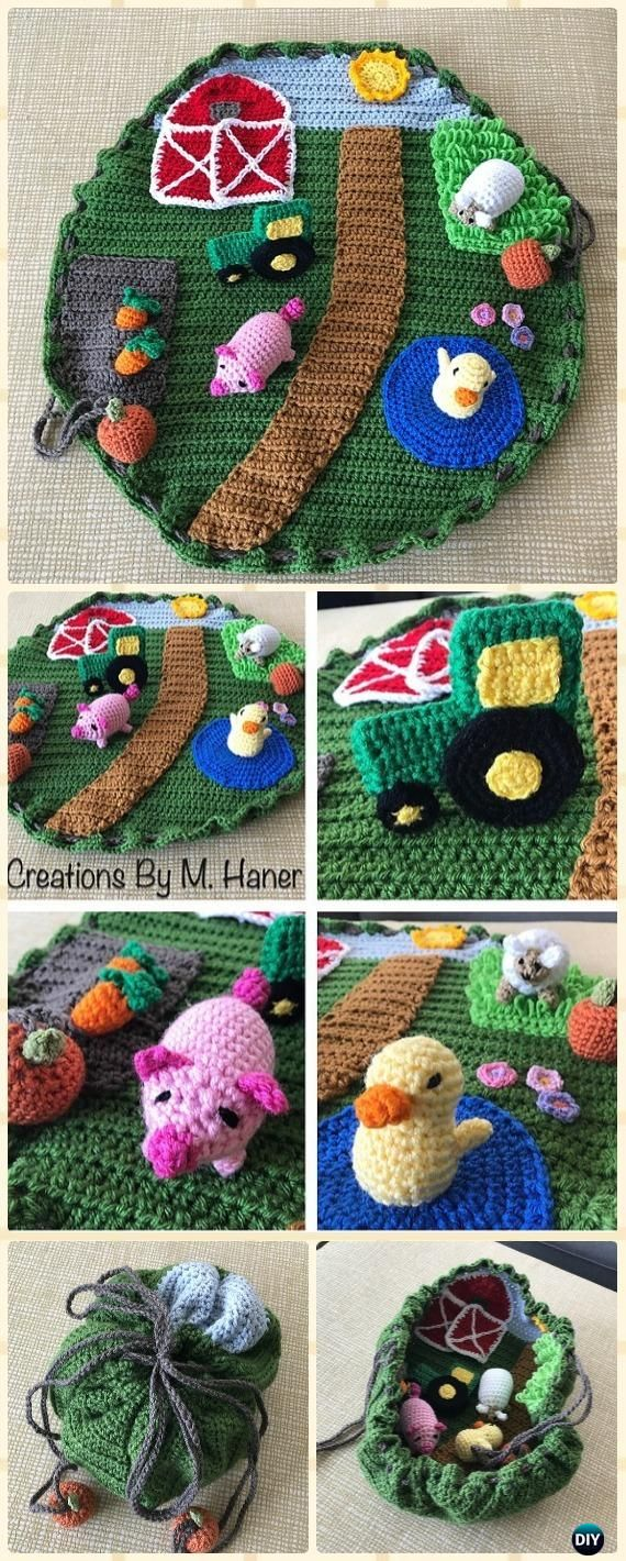 Crochet Down on the Farm Playmat Free Pattern - Crochet Baby Shower ...