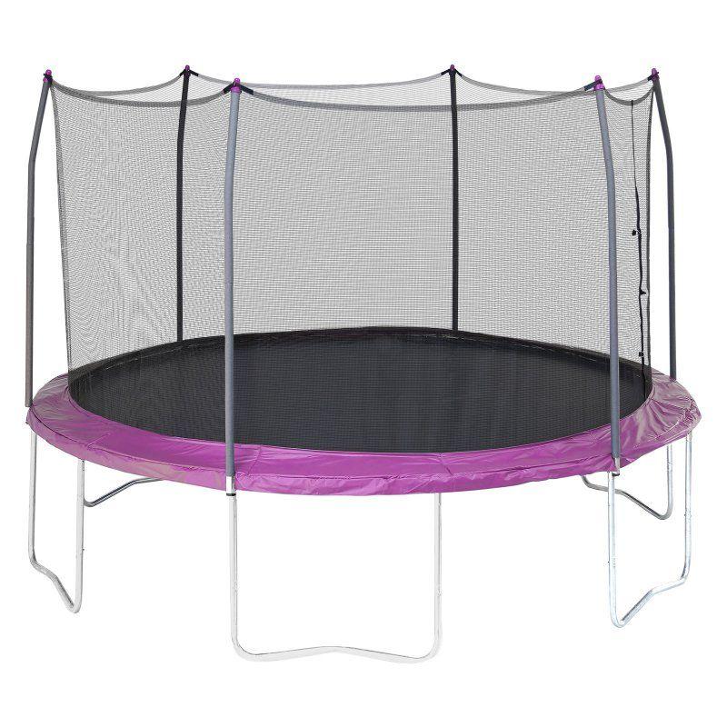 Skywalker 12ft. Round Trampoline with Enclosure Purple