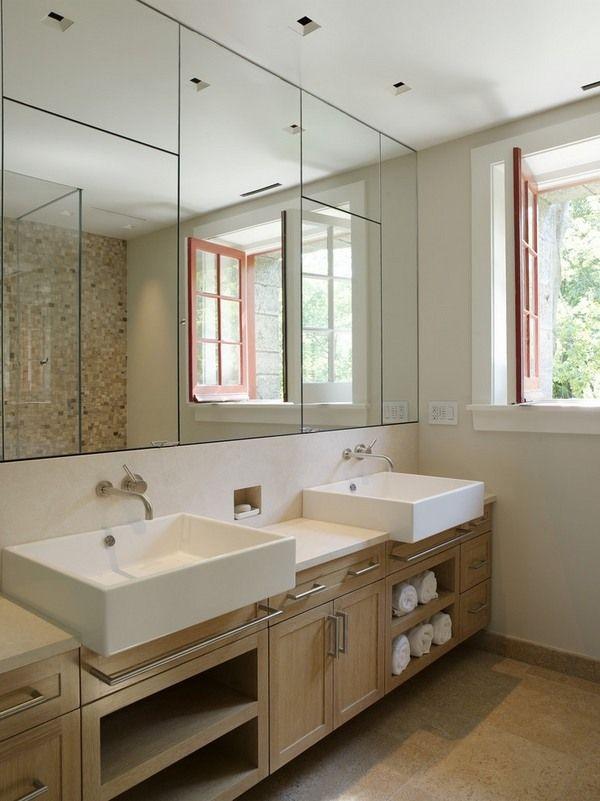 modern bathroom decor double sink vanity design ideas wall mirrors