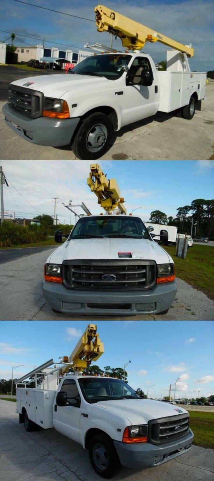 very clean 1999 Ford F 350 Super Duty bucket boom truck