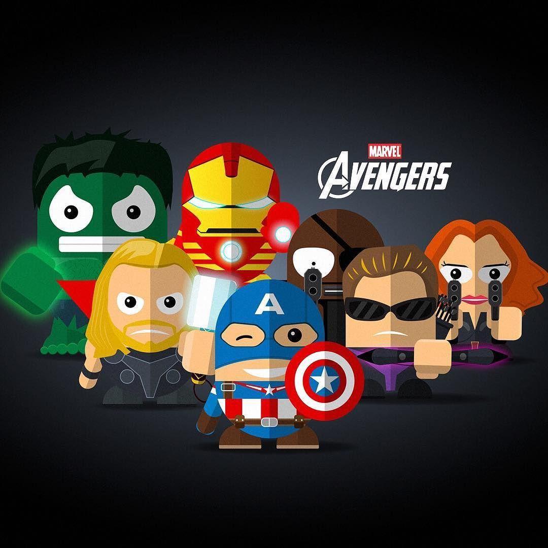 Mini Avengers . . . illustration iconic figures
