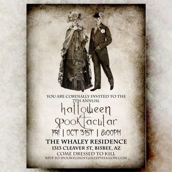 Halloween Invitation Printable Wedding Template  Halloween Party