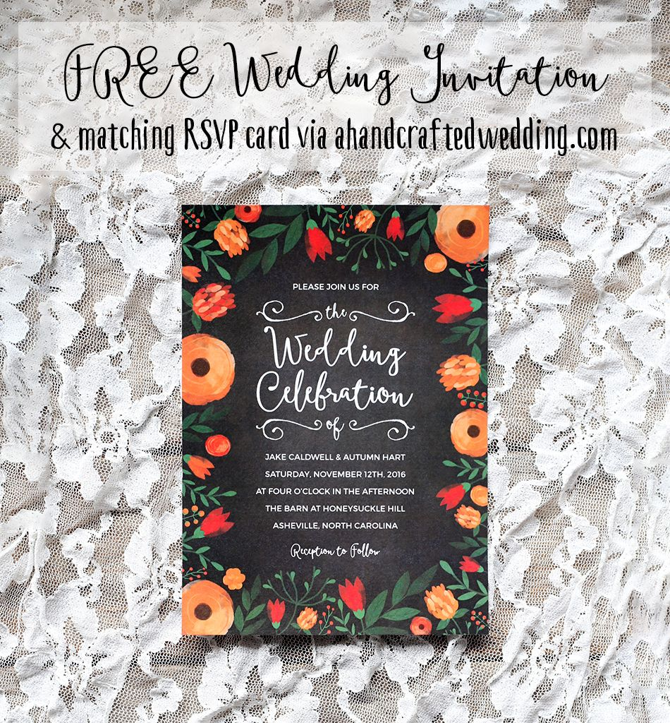 FREE Whimsical Wedding Invitation Template   Whimsical wedding ...