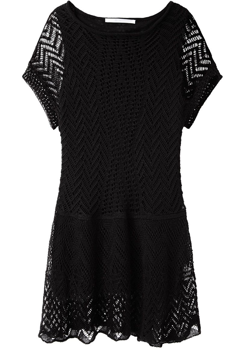 Thakoon Addition Crochet Drop Waist Dress