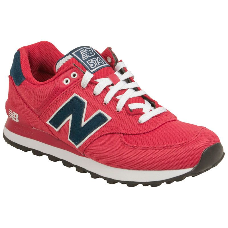 Unisex New Balance Red Red 574 Youth With Fast Delivery