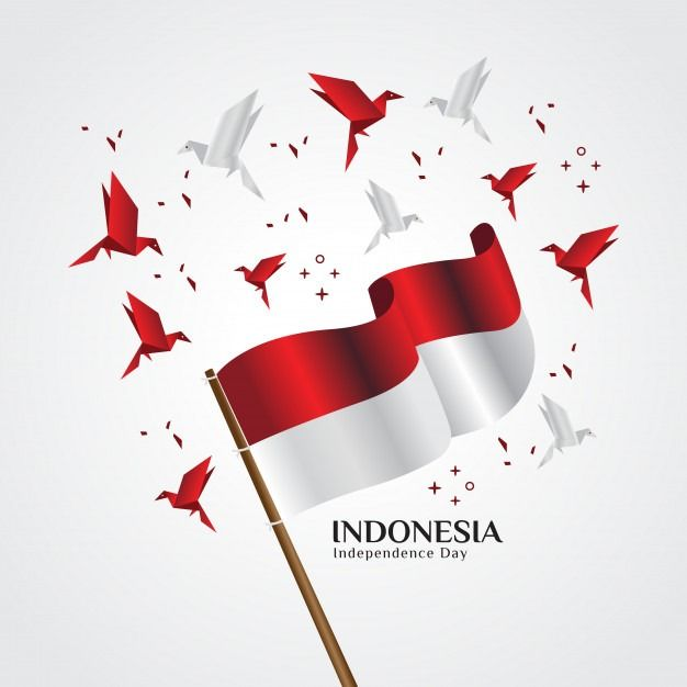 Happy Independence Day Indonesia Images Photos Free Download 2020 In 2020 Red And White Flag Independence Day Greetings Origami Bird