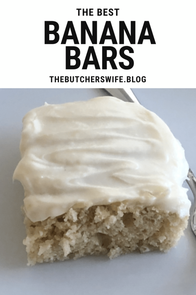 The BEST Banana Bars with Cream Cheese Frosting |