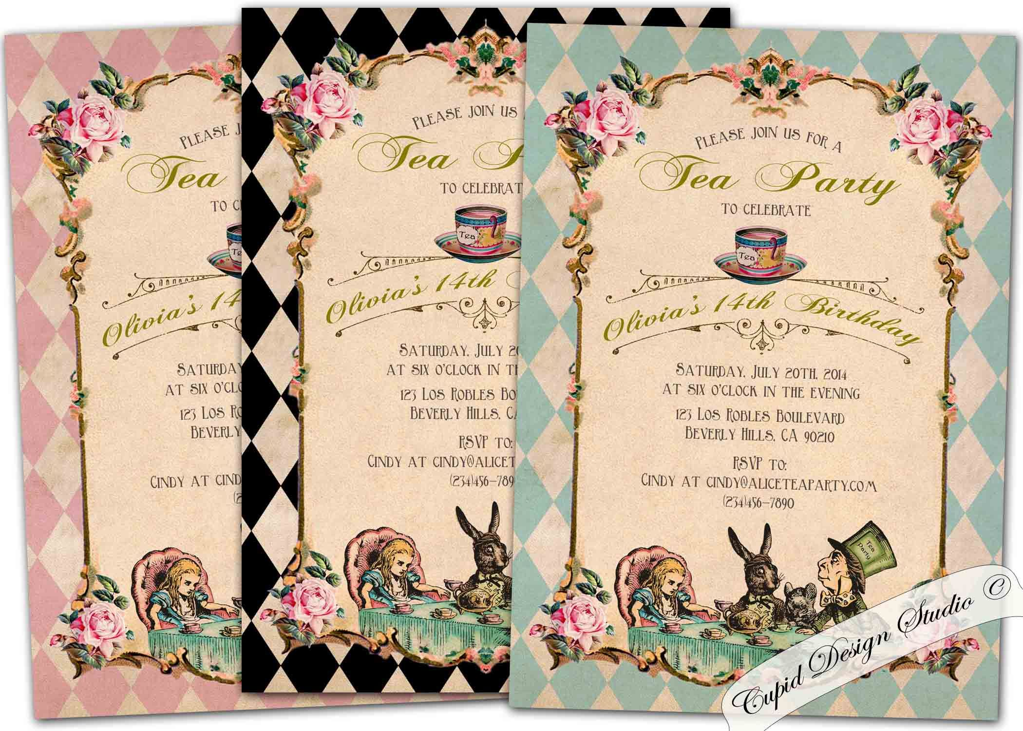 mad hatter teparty invitations pinterest%0A Alice in wonderland invitation printable Alice and wonderland invitation Mad  hatter invitations Alice in wonderland invite