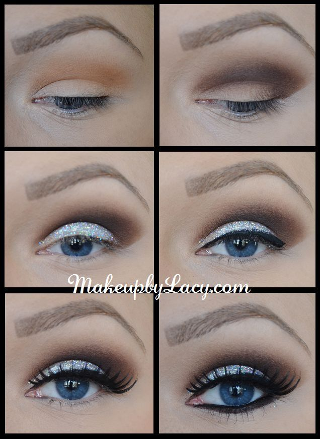 Glitter Eyeshadow Tutorial – Step-by-Step Picture Guide! #makeup