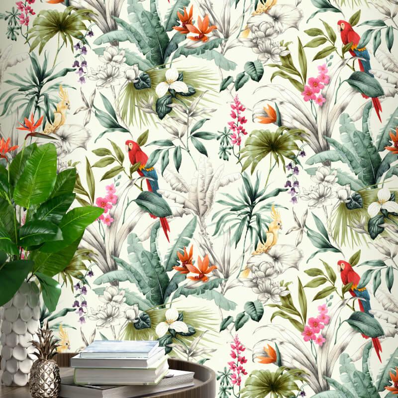 Accessorize Bird of Paradise Multi Coloured Wallpaper
