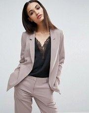 Veste Pantalons En CrêpeCostumes Cintrée Asos Tailleurs Femmes 9WEHID2Y
