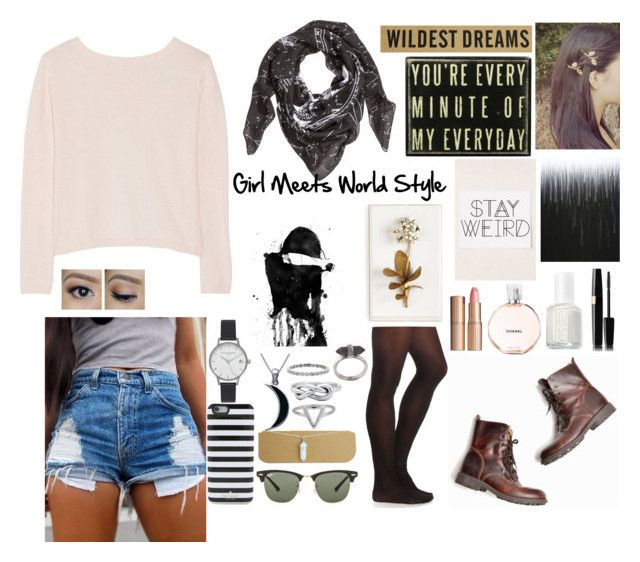 Girl Meets World Style by peeta-threw-me-bread on Polyvore featuring polyvore, fashion, style, Banjo & Matilda, Charlotte Russe, Olivia Burton, Carolina Glamour Collection, Karen Kane, ChloBo, H&M, Kate Spade, Ray-Ban, Charlotte Tilbury, Essie and Tommy Mitchell