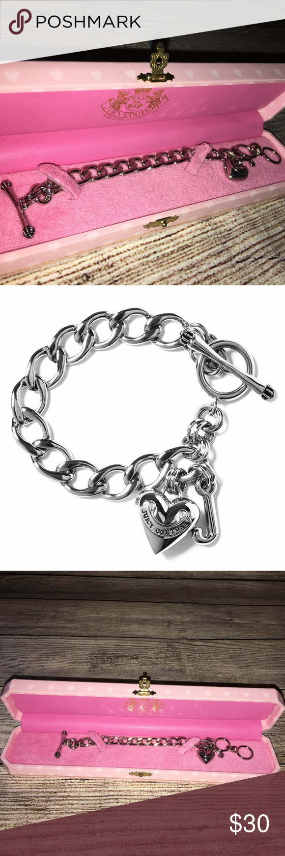 bbb82ae229c3 JUICY COUTURE Silver Mini Starter Charm Bracelet Darling mini starter charm  bracelet for your young lady