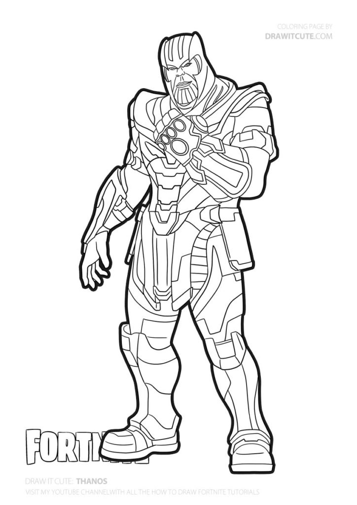 Fortnite Coloring Pages Thanos Collection