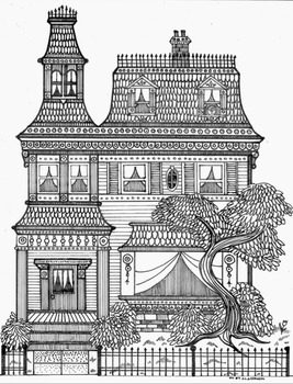 Beautiful Victorian Mansion Coloring Sheet By Mr B S Classroom Tpt Cool Art Projects Architecture Drawing Coloring Sheets