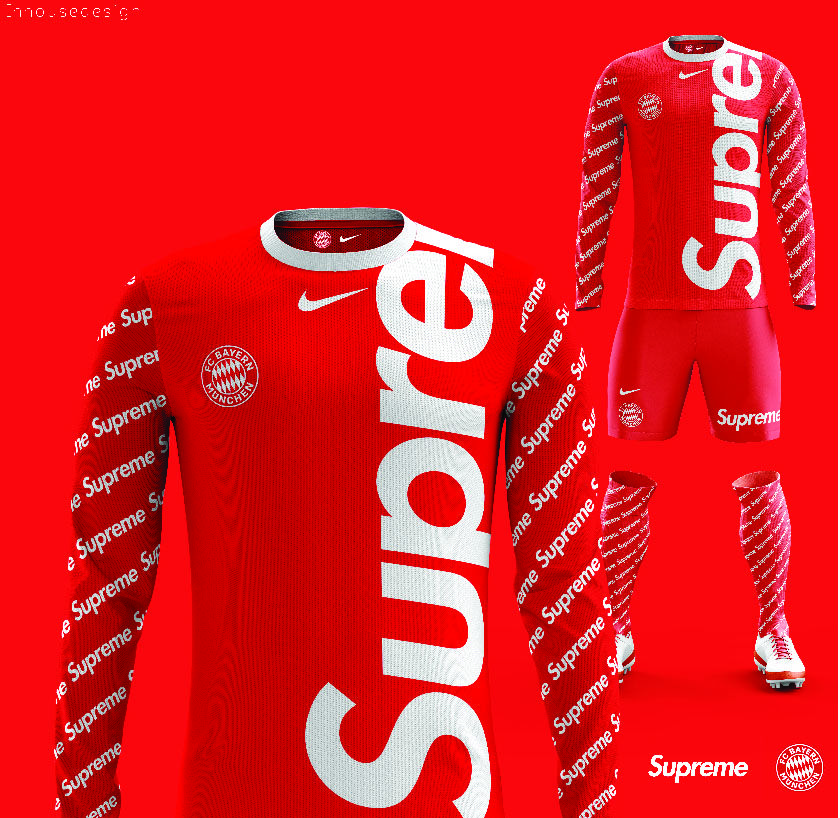 quality design 1fc21 2e72e Supreme Soccer Jersey Design   Logo & Brand Marks   Cola ...