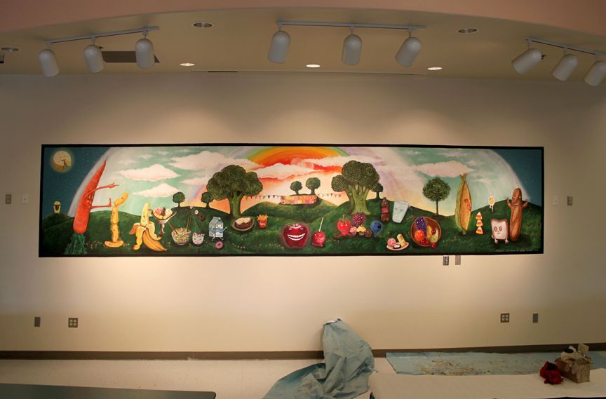 School cafeteria murals school mural cafeteria wall for Classroom wall mural