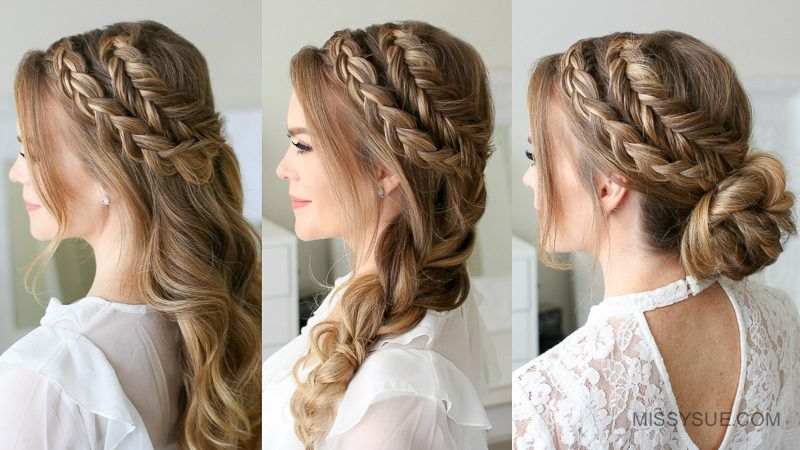 Mixed Dutch And Dutch Fishtail Braid 3 Ways With Images Fish