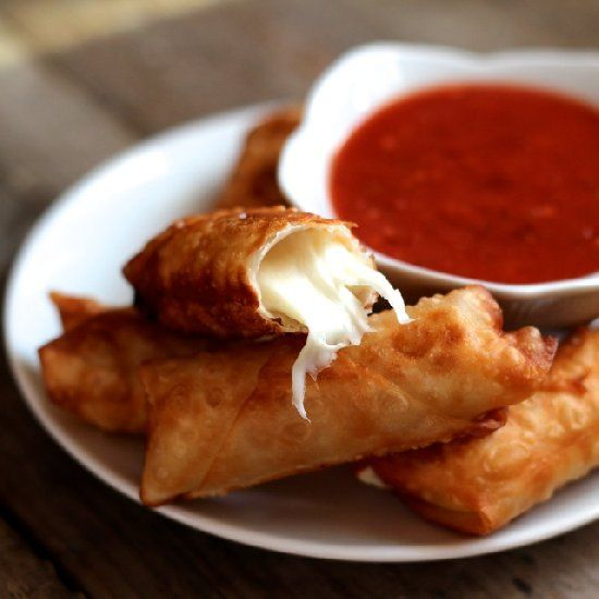 Wonton Mozzarella Sticks. Crunchy, salty, cheesy, and simple for Game Day.