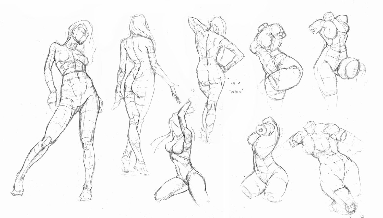 Vistoso Dibujos Anatomía Femenina Modelo - Anatomía de Las ...