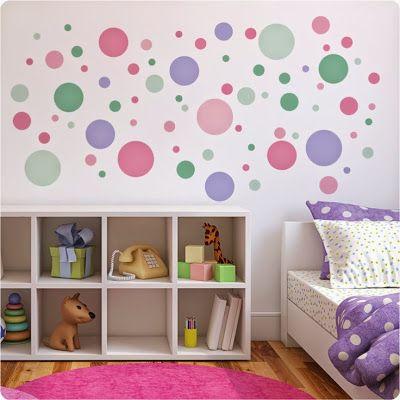 Dormitorios para ni os con c rculos en las paredes - Habitaciones infantiles decoracion paredes ...