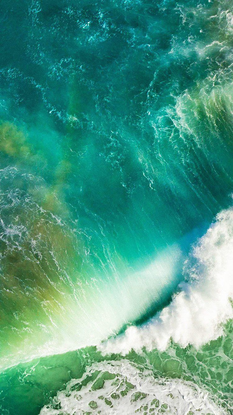 At05 Ios10 Apple Iphone7 Wave Waterfall Official Art Illustration Ios 10 Wallpaper Ios 11 Wallpaper Iphone Wallpaper Ios
