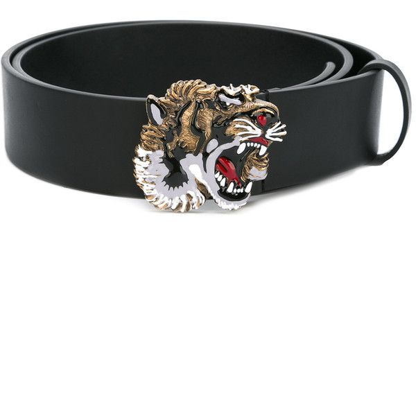 370e01806dd Gucci tiger head buckle belt ( 525) ❤ liked on Polyvore featuring men s  fashion