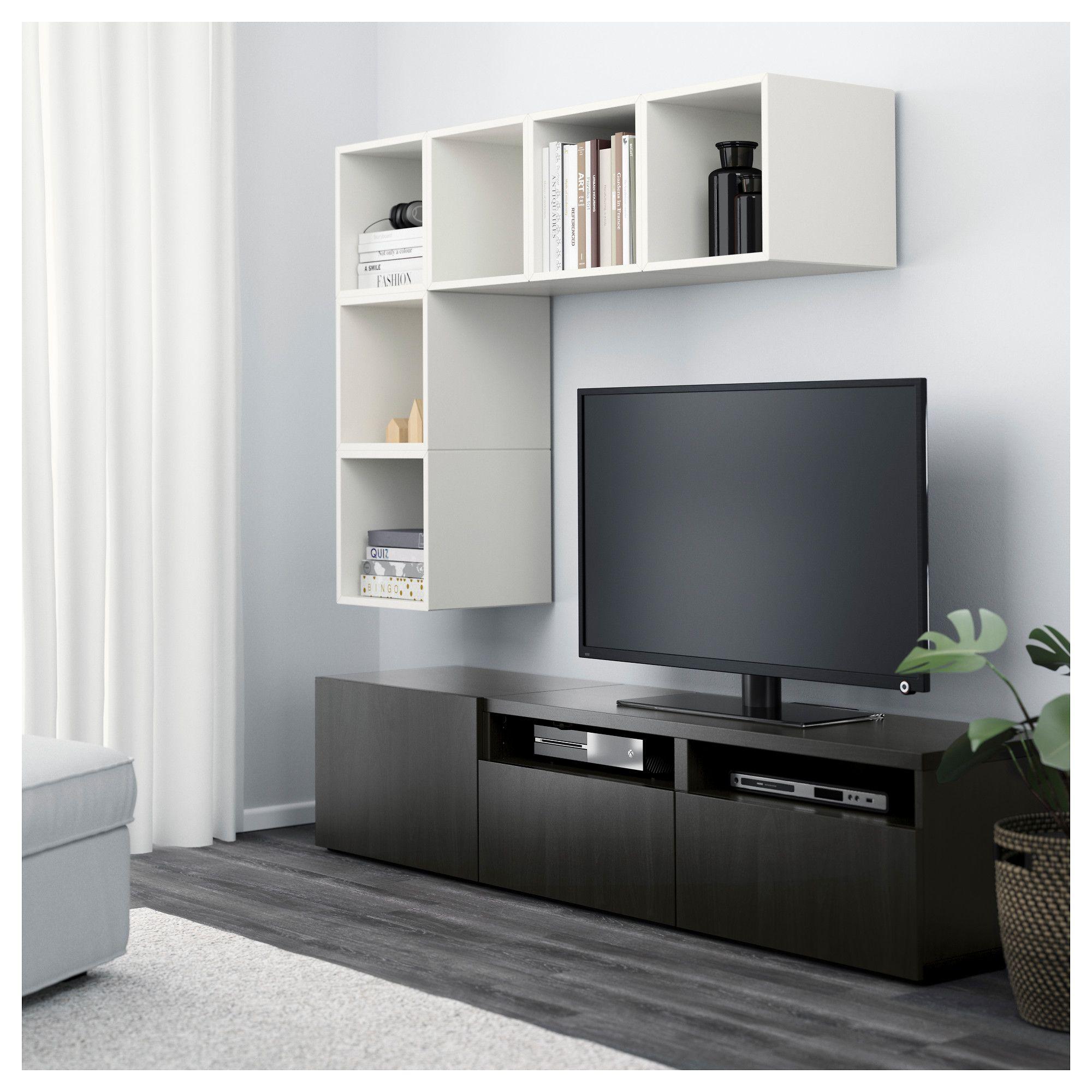 Meuble Tv Colonne Ikea ikea - bestÅ / eket tv storage combination white/black-brown