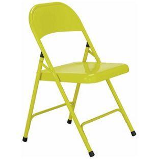 Surprising Buy Habitat Macadam Yellow Metal Folding Chair At Argos Co Lamtechconsult Wood Chair Design Ideas Lamtechconsultcom
