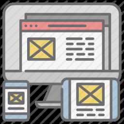 Adaptive Design Devices Responsive Web Web Design Icon In Web Design Icon Icon Design Web Design