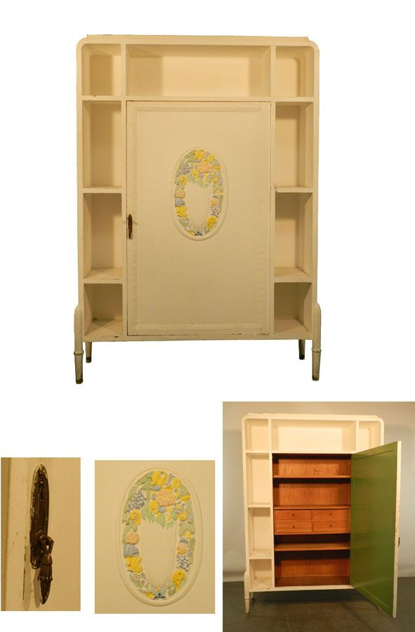 MEUBLE DE RANGEMENT, REPEINT, EPOQUE ART DECO VERS 1925/1930 - repeindre un meuble en chene