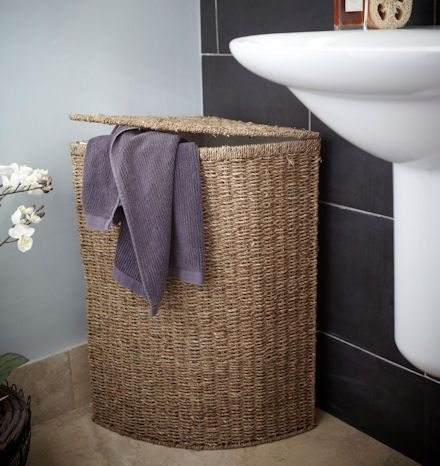 Stylish Wicker Laundry Hamper Storage Space For Your Dirty Laundry With  Dirty Towel Interior Design   GiesenDesign