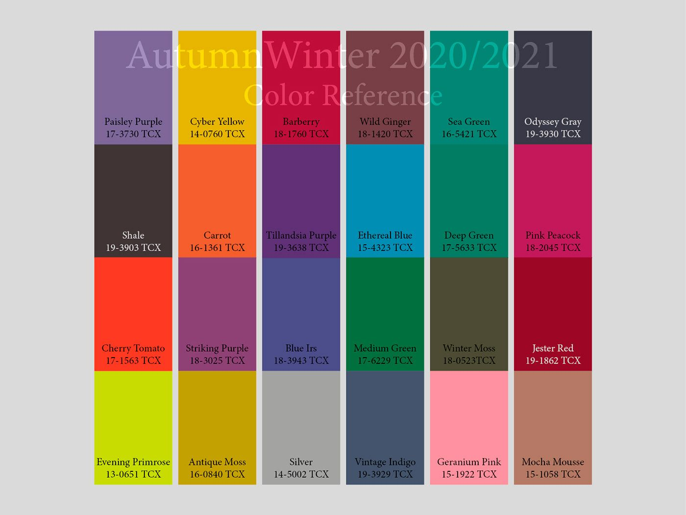 aw2020 2021 trend forecasting on behance graphic design on paint color trends 2021 id=76100