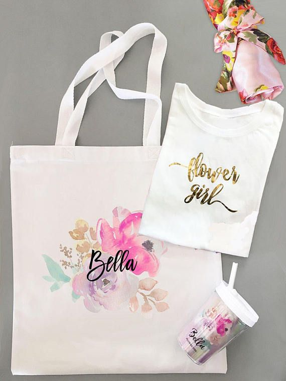 537bbb371 Personalized Flower Girl Gift set W Flower Girl tee Floral