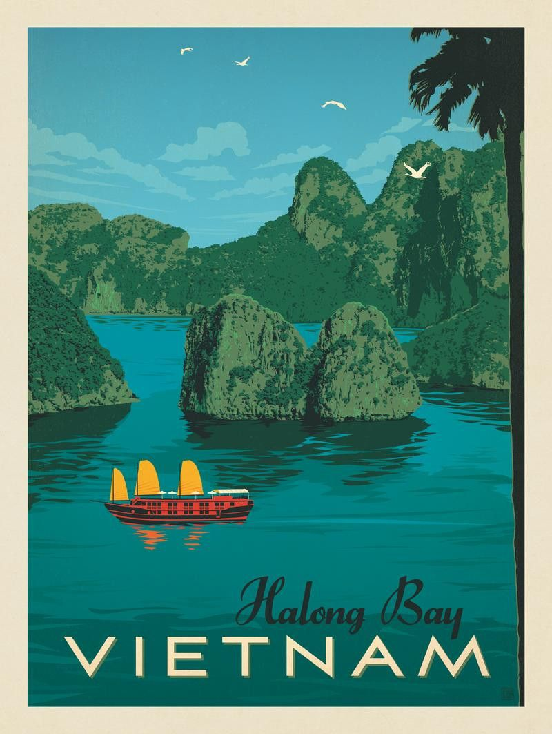travel vintage thailand chiang mai A2 SIZE PRINT painting poster  FOR YOUR FRAME