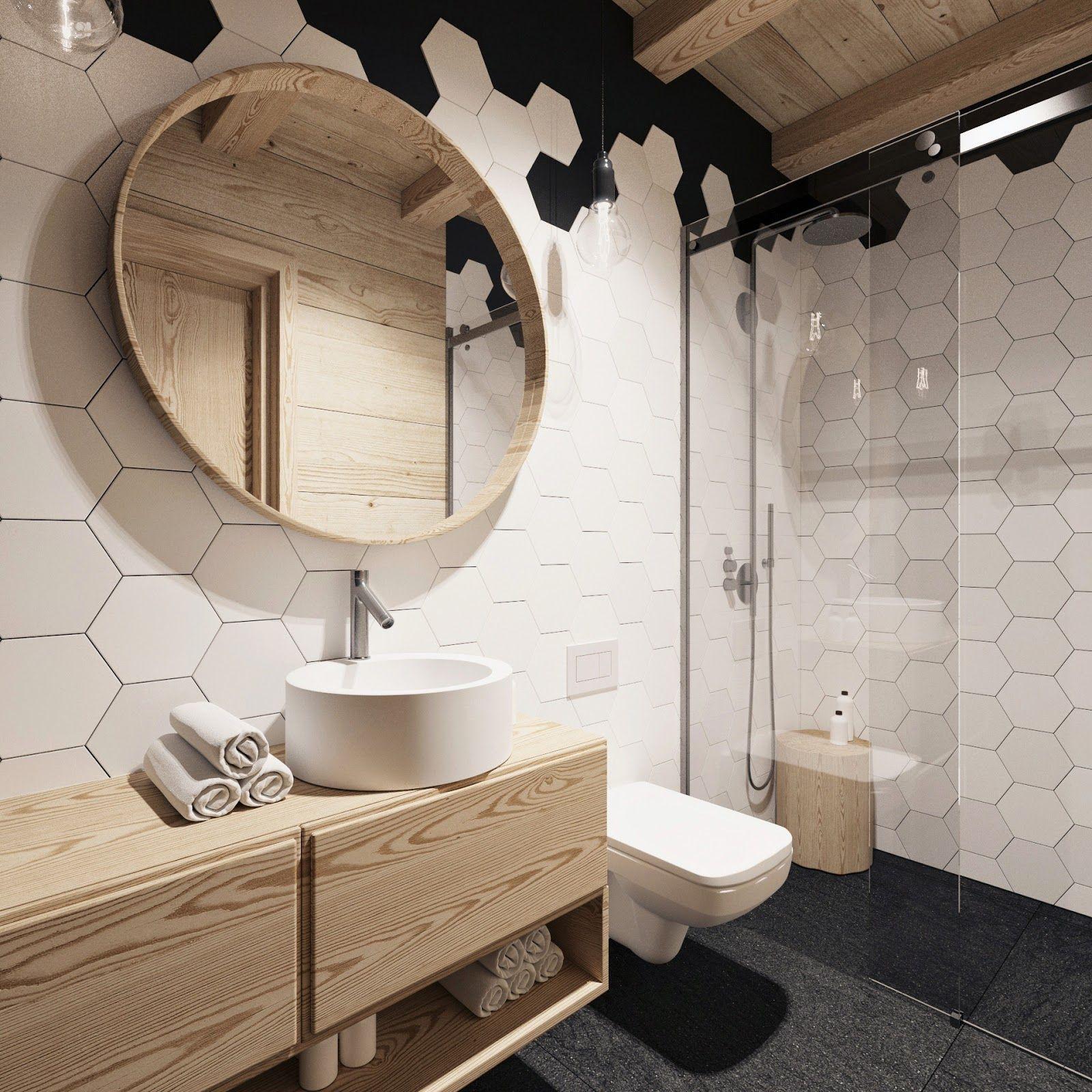 blog dla ludzi z wnętrzem: PŁYTKI HEKSAGONALNE  Deco  Pinterest  욕실 ...