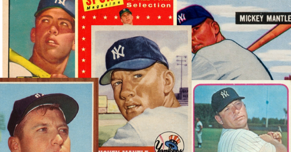 Mickey Mantle Baseball Cards Complete Visual Guide To The Mick S Best Mickey Mantle Baseball Cards Mantle
