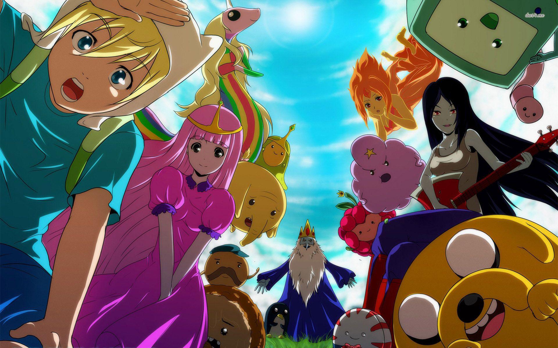 Adventure Time anime wallpaper Плакат, Время приключений