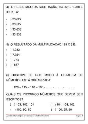 Apostila Matematica Em Pdf Com Imagens Atividades De