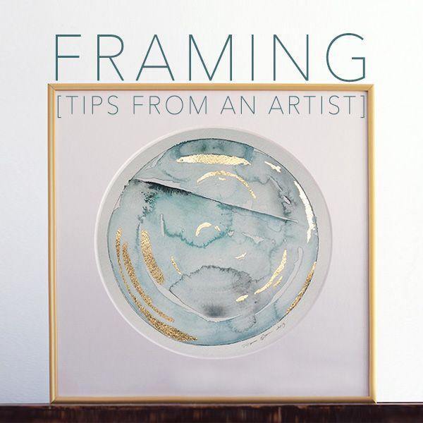 Choosing a Frame : Standard vs. Archival Framing Process | Naomi Ernest | Artist Tips