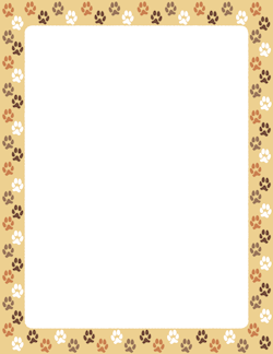 Dog paw print border sticker inspiration border templates page borders free certificate - Paw print wall border ...