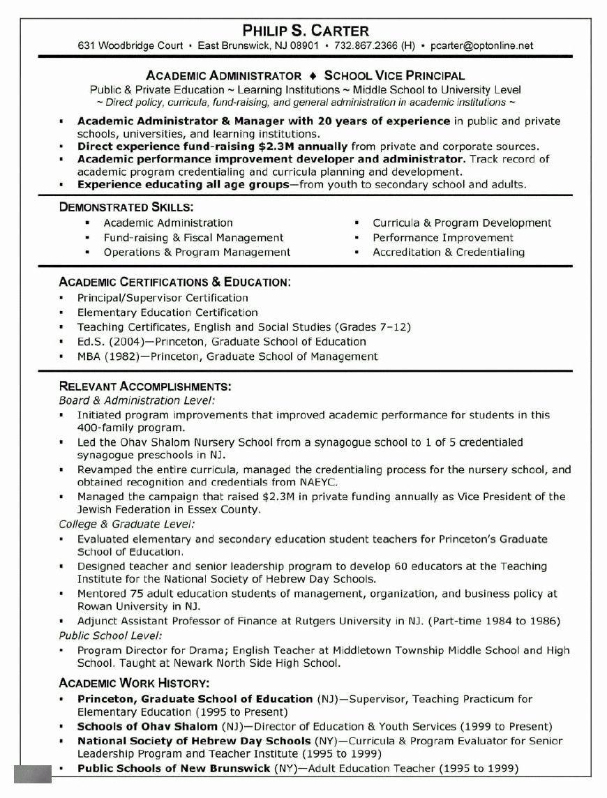 23 Resume Examples for Graduate School in 2020 Resume