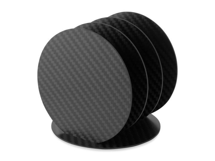 A coaster set made by carbon fiber enthusiasts, for carbon fiber enthusiasts.  The set…
