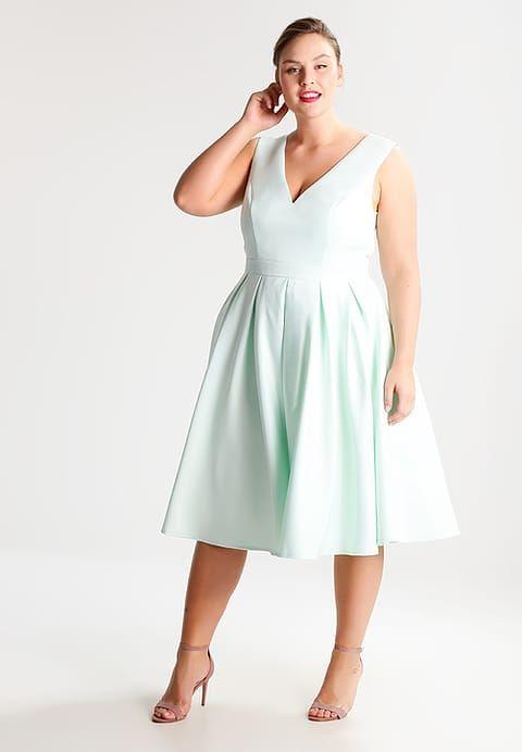 Chi Chi London Curvy VOGUE - Cocktailkleid / festliches Kleid - mint ...