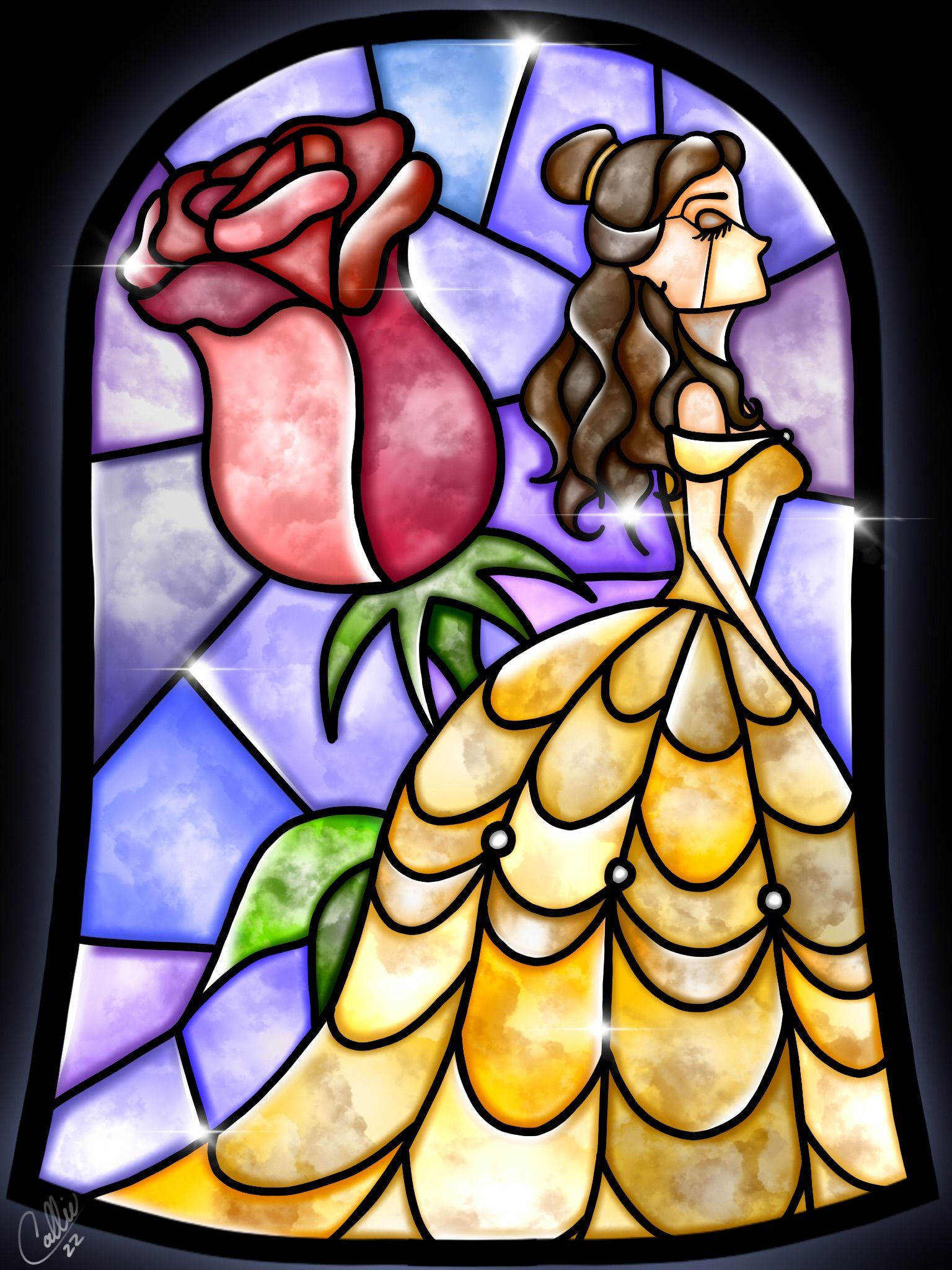 Stained Glass Belle by CallieClara.deviantart.com on @DeviantArt