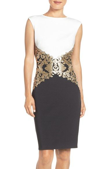Women's Dresses | Sequin cocktail dress, Black, white